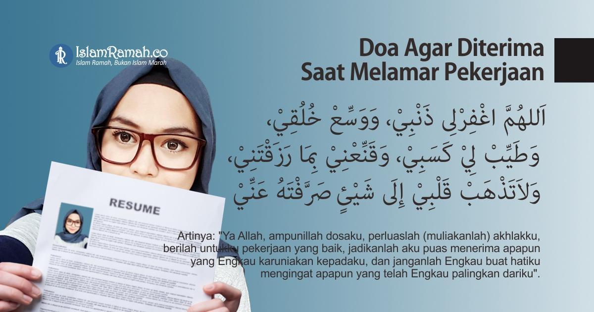 Doa Agar Diterima Saat Melamar Pekerjaan Marked_islamramah.co