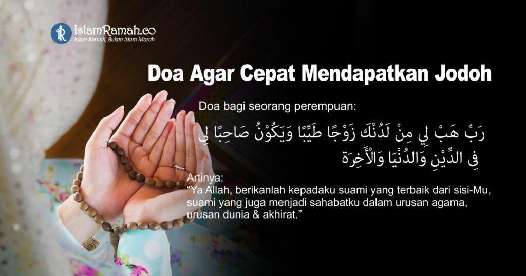 Doa Cepat Dapat Jodoh (Perempuan) Marked_islamramah.co