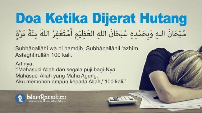 Doa Ketika Dijerat Hutang Marked_islamramah.co