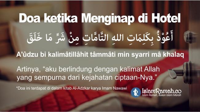 Doa Ketika Menginap di Hotel Marked_islamramah.co