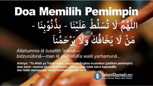 Doa Memilih Pemimpin Marked_islamramah.co