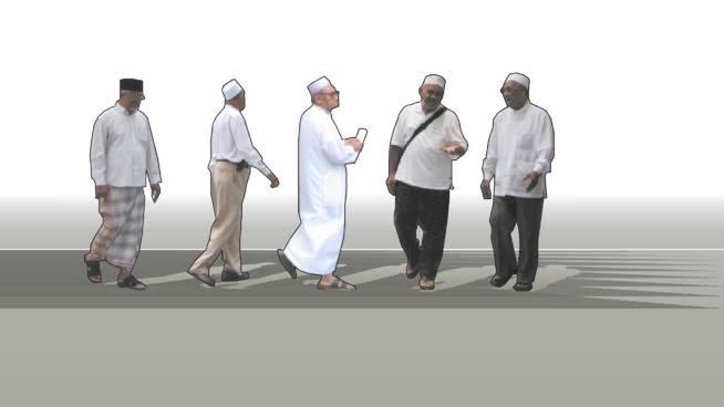 Asian Moslem Man