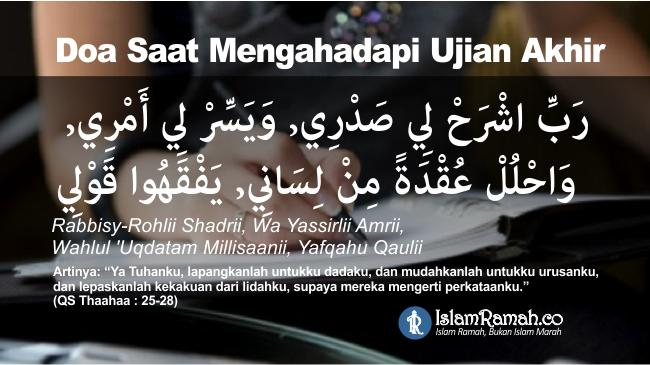 Doa Saat Menghadapi Ujian Akhir Marked_Islamramah.co