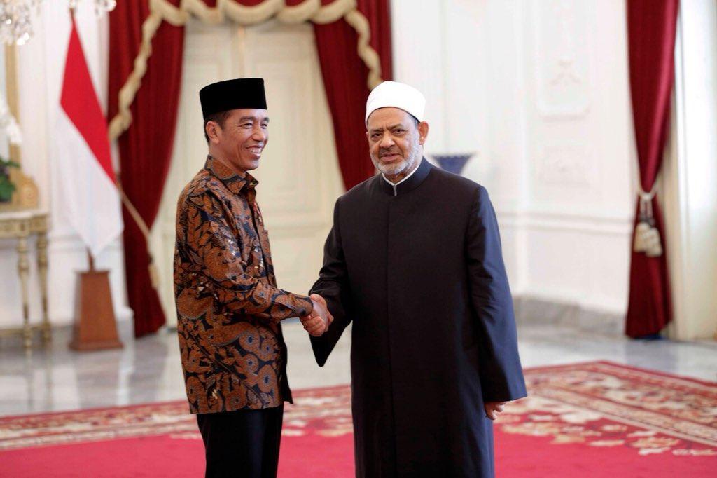 Grand Syaikh Al-Azhar dan Presiden Jokowi