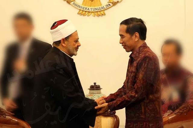 Presiden Jokowi Menerima Kunjungan Grand Syekh Al-Azhar Syekh Ahmad Thayeb