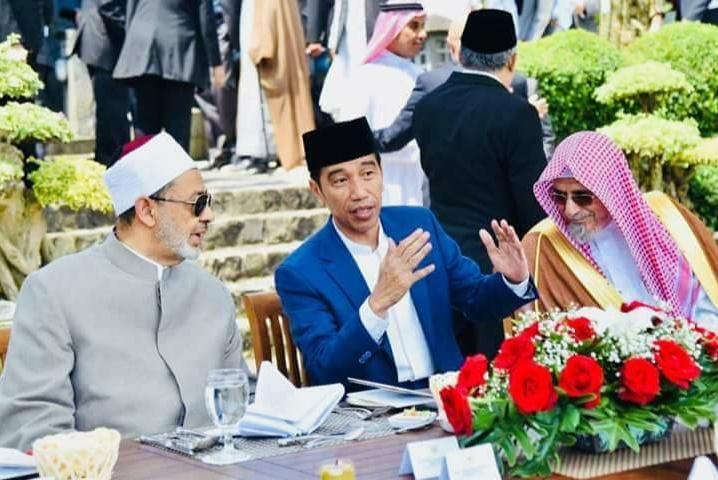 Grand Syaikh AL-Azhar, Presiden Jokowi, dan Syaikh Saleh Abdullah