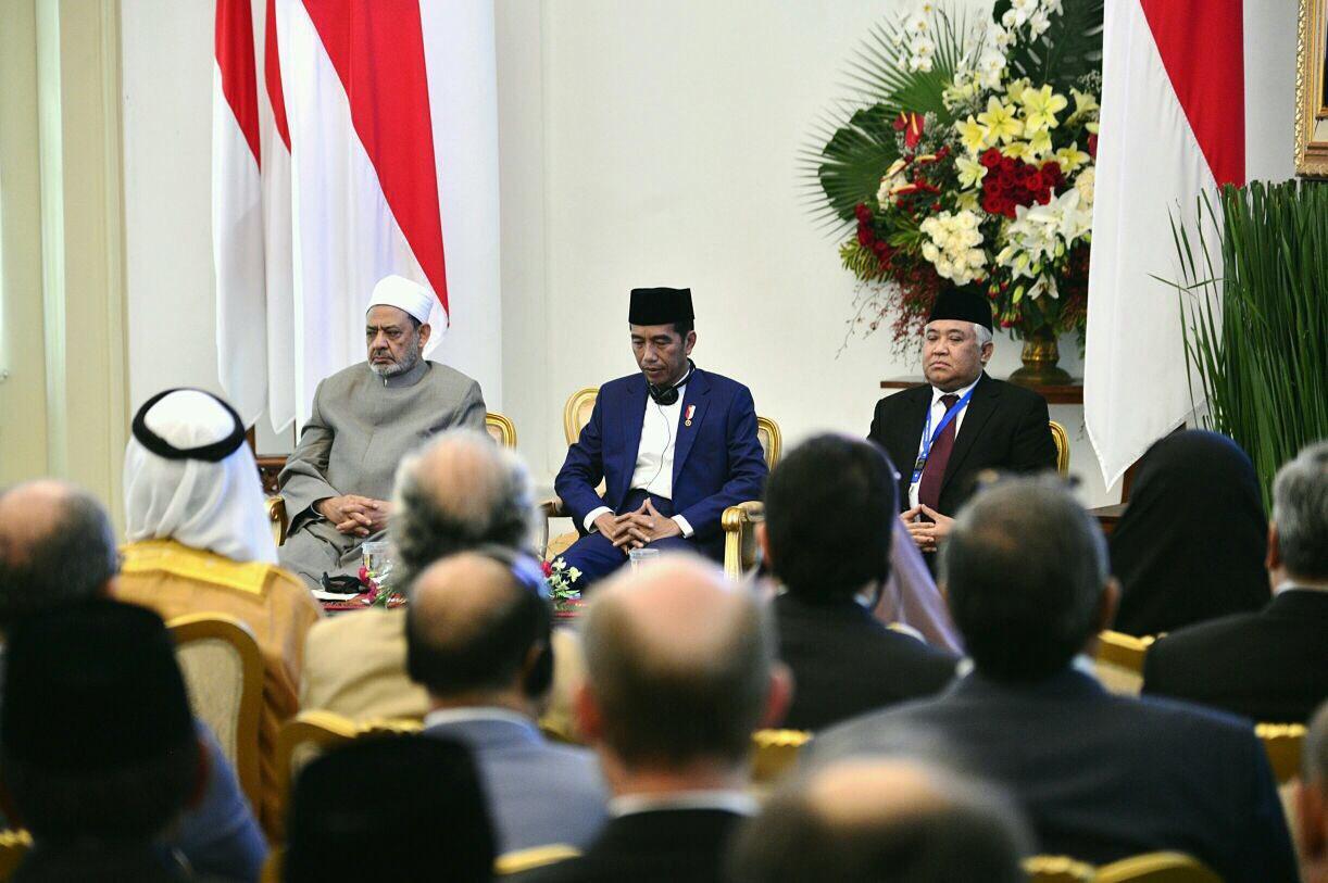 Grand Syaikh Al-Azhar, Presiden Jokowi dan Din Samsuddin