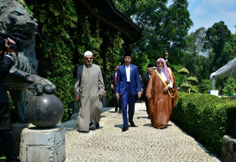 Grand Syaikh Al-Azhar, Presiden Jokowi dan Syaikh Saleh Abdullah