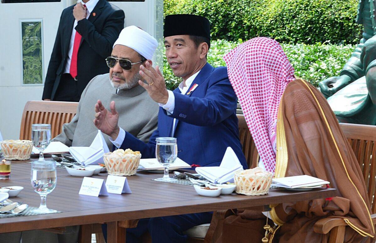 Grand Syaikh Al Azhar, Presiden Jokowi dan Syaikh Saleh Abdullah