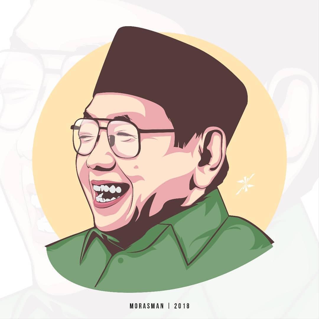 Gus Dur-Kisah Teman Gus Dur Yang Perokok Berat-IslamRamah.co