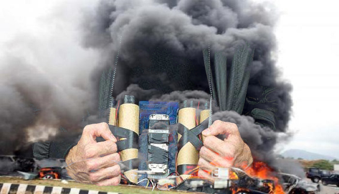 Ilustrasi: Bom Bunuh Diri. (NusantaraNews)